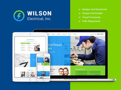 Wilson Electrical – Repair and Maintenance Services WP Theme webdesign web design wordpress themes wordpress theme repair services wordpress theme repair wordpress theme