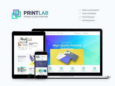 PrintLab – Type Design & Printing Services WordPress Theme web design wordpress wordpress blog theme type design wordpress theme printing services type design  printing services