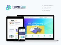 PrintLab – Type Design & Printing Services WordPress Theme