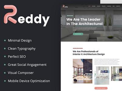 Reddy – Architecture & Interior Design WordPress Theme web design wordpress theme architecture wordpress theme
