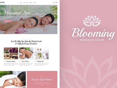 Blooming – Spa and Beauty Shop WP Theme web design wordpress themes wordpress theme spa wordpress theme beauty shop wordpress theme
