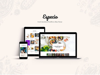 Especio | Gutenberg Food Blog WordPress Theme gutenberg wordpress theme gutenberg blog wordpress theme blog wordpress theme blog food blog wordpress theme food blogger food blog wordpress food blog gutenberg
