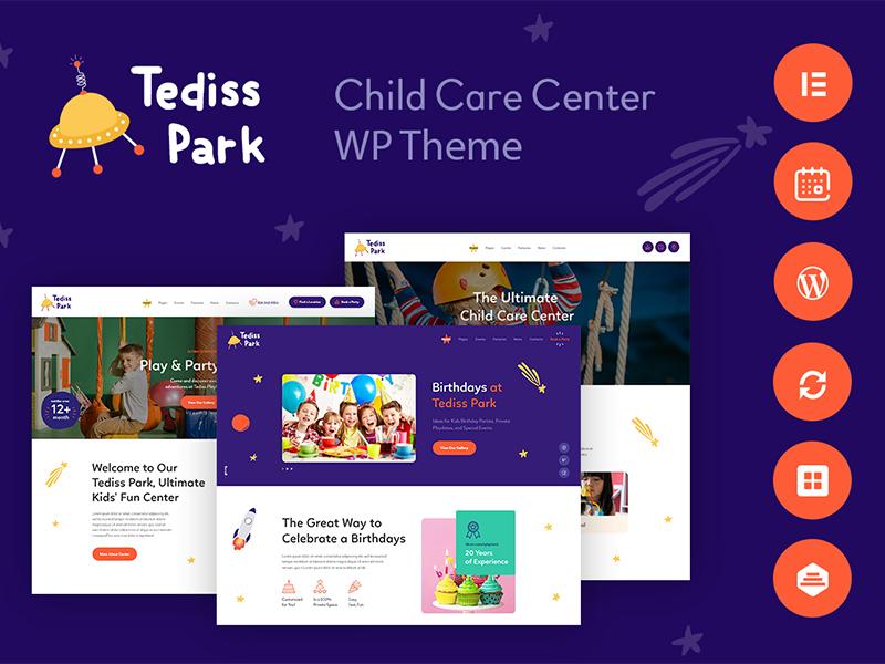 Tediss | Play Area & Child Care Center WordPress Theme wordpress theme kids wordpress theme play area wordpress theme