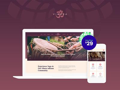 Vihara   Ashram Buddhist Temple WordPress Theme buddhist wordpress themes buddhist wordpress theme buddhist temple wordpress theme