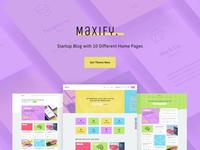 Maxify - Startup & Business Blog WordPress Theme