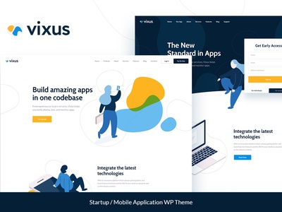 Vixus | Startup & Mobile App WordPress Landing Page Theme corporate creative bitcoin wordpress blog theme business wordpress design blogging blog wordpress theme wordpress themes webdesign blog web design wordpress wordpress theme