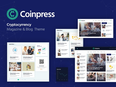 Coinpress | Cryptocurrency Magazine & Blog WordPress Theme bitcoin corporate business blog webdesign wordpress themes web design wordpress wordpress theme cryptocurrency magazine