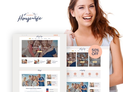 Modern Housewife | Women & Family WordPress Blog Theme blogging business webdesign blog wordpress themes web design wordpress wordpress theme