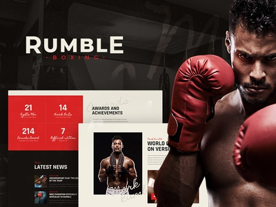 Rumble | Boxing & Mixed Martial Arts WordPress Theme design webdesign blog wordpress theme wordpress theme wordpress web design wordpress themes