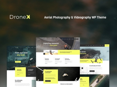 DroneX   Aerial Photography & Videography WordPress Theme wordpress design webdesign wordpress themes web design wordpress wordpress theme