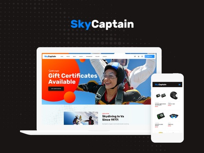SkyCaptain | Skydiving & Extreme Flying Sports WordPress Theme blog wordpress design webdesign wordpress themes wordpress web design wordpress theme