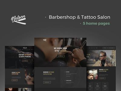 Nelson - Barbershop & Tattoo WordPress Theme wordpress design webdesign web design wordpress wordpress theme wordpress themes