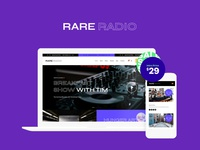 Rare Radio | Online Music WordPress Theme