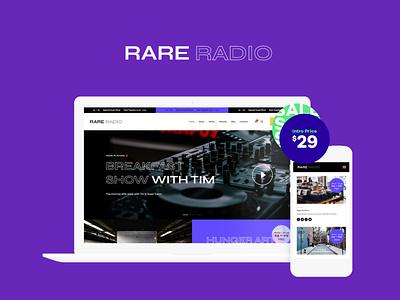 Rare Radio | Online Music WordPress Theme business blog wordpress theme blogging wordpress design blog webdesign wordpress themes web design wordpress wordpress theme