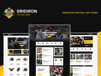 Gridiron | American Football & NFL Team WordPress Theme wordpress design blog webdesign wordpress themes web design wordpress wordpress theme