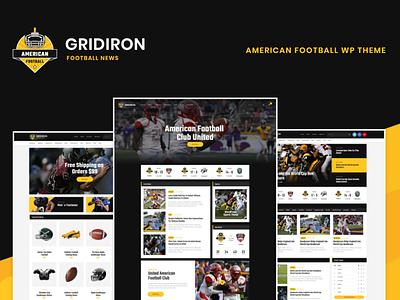 Gridiron | American Football & NFL Team WordPress Theme wordpress design blog webdesign wordpress themes web design wordpress wordpress theme