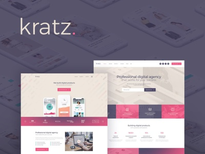 Kratz | Digital Agency WordPress Theme wordpress design wordpress webdesign blog wordpress themes web design wordpress theme