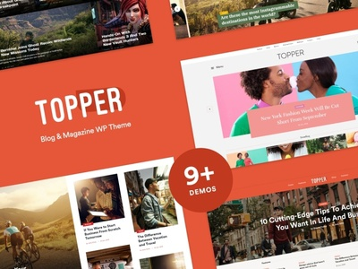Topper – Ultimate One-Stop WordPress Blog Theme for $5! wordpress blog theme blog wordpress theme blogging wordpress design blog webdesign wordpress themes web design wordpress wordpress theme