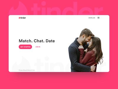 Tinder Reimagined web website tinder webdesign ui digitaldesign user interface uiux design product design