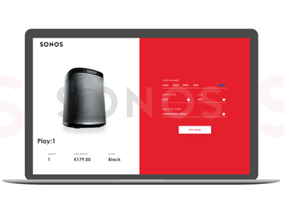 Daily UI 2 - Checkout Page sonos nigeria ux ui landing page user interface product design dailyui uiux