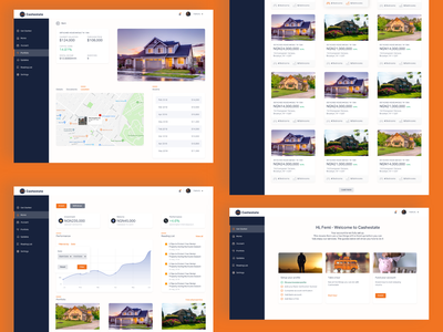 Cashestate user experience web application design user interface design product design