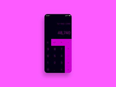 Daily UI 4 - Calculator dailyui user experience mobile design product design ui uiux user interface
