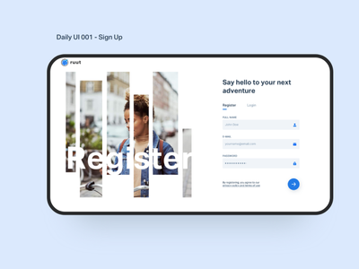 Daily Ui 001 - Sign Up design user interface design userinterface user experience uidesign uichallenge ux ui uiux dailyui product design