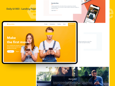 Daily UI 003 - Landing Page uidesigner designer product designer landing page digitaldesign uichallenge ux ui user experience dailyui user interface uiux product design design