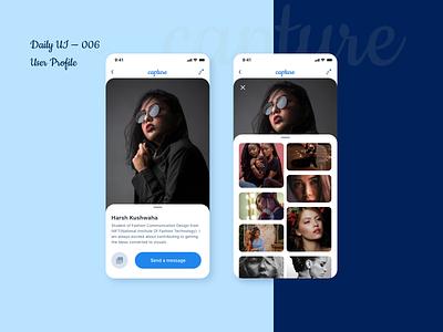 Daily UI 006 - User Profile ux uichallenge ui mobile design user experience dailyui user interface uiux product design design