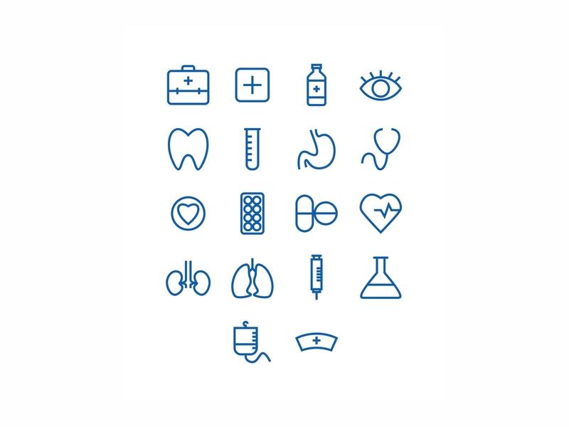 Medical Icons set designs design healthcare health icon design icon set icons icon medicine medical illustration