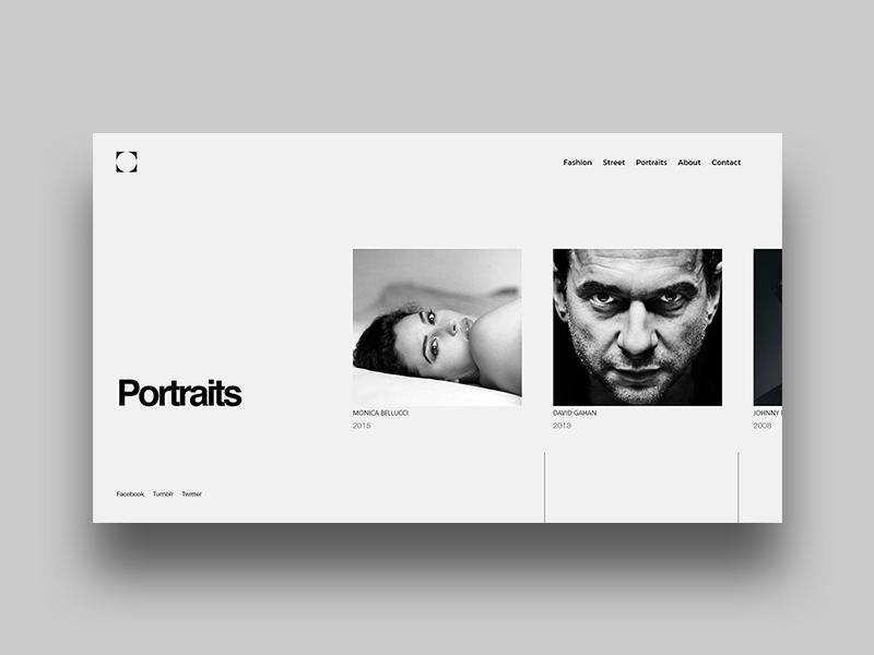portfolio website layout by saimonas mureika on dribbble