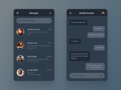 Direct Chat - Daily UI Challenge #013