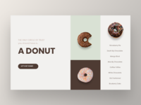 Landing Page for a Donuts Website