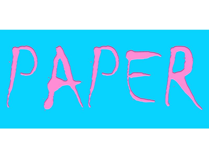 Paper cut texture photoshop text papercut cutout