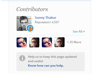 Contributor section