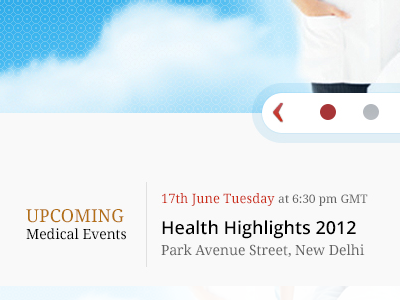 Slider concept & Event Typography slider typography carousal blue hospital clinic medical date event