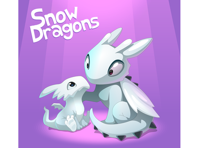 Snow Dragons vector illustration game kids dragon snow