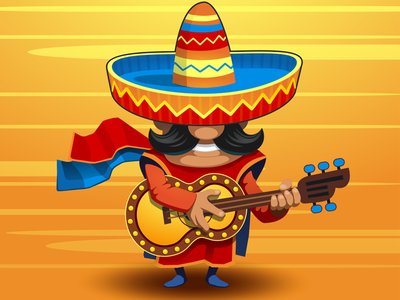 Mexican Guy game vector illustration character mexico