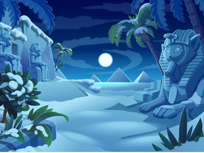 Egypt Winter vector