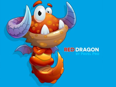 Red Dragon character red kid dragon