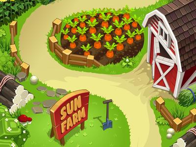 Sun Farm game sun cartoon farm
