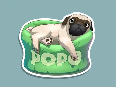 Popo dog vector popo