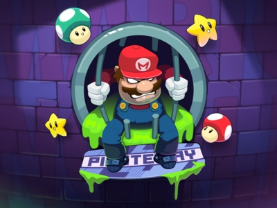 escape from the game mario vector game 2d