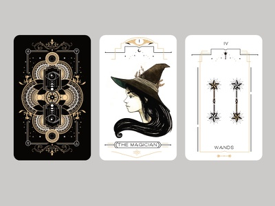The witch tarot card games cards illustration sorcery witch design print tarot