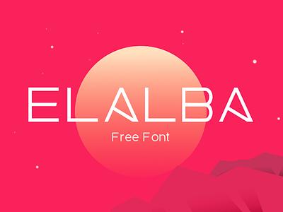 Elalba Free Font minimal sans typography font