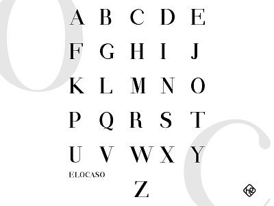 Elocaso Font Uppercase blackandwhite serif typography font
