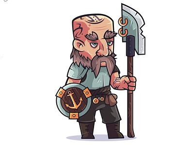 Rebels: Agvid north glaive sheild artwork art vectorart fantasy veteran illustrator warrior character design vector flat design illustration character