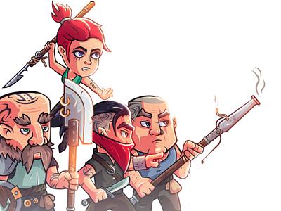 Rebels: limit of possible illustrator pirate design photoshop warrior rebel creative fantasy vector character character design illustration