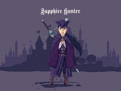 Sapphire Hunter - hello dribbble!
