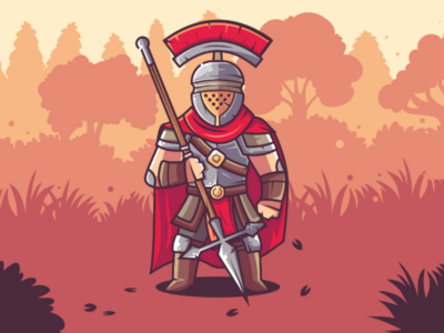 Centurion of the Red Wing art characterdesign concept rome vector illustration flat centurion warrior character